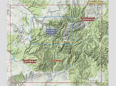 Durango Trails Colorado Recreation Topo Map Latitude