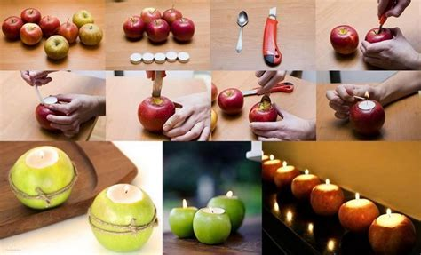 Table Decorating Ideas Candles Apples Autumn Indoor Outdoor Atmosphere 650x325 15 table decorating ideas with candles light your home