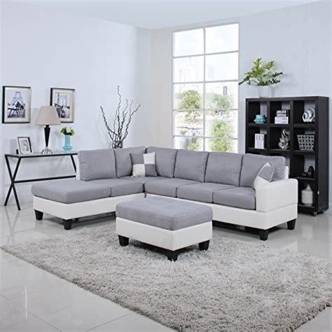 two tone leather sectional sofa product reviews buy classic two tone large linen fabric