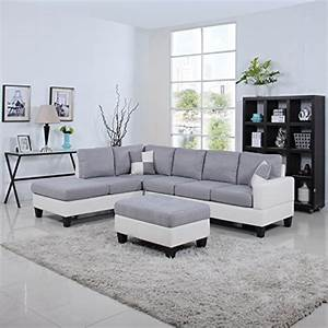 product reviews buy classic two tone large linen fabric With sectional sofa 2 tone