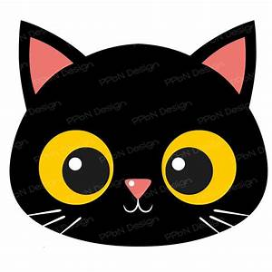 Cartoon Black Cat Face | www.imgkid.com - The Image Kid ...