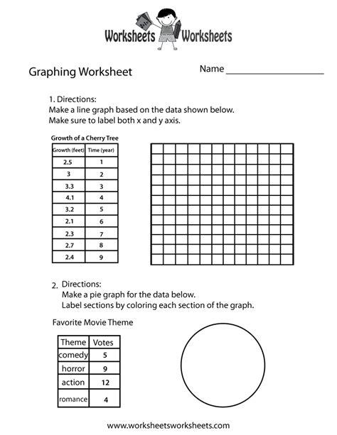 graph worksheet worksheets worksheets