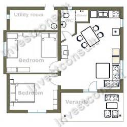 small 2 bedroom house plans builder in bourgas bulgaria investconsult