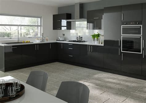 Lewes High Gloss Black Kitchen Doors From £548 Made To