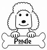 Poodle Coloring Pages Printable French Silhouette Outline Skirt Colouring Standard Getdrawings Silhouettes Print Designlooter Getcolorings Popular sketch template