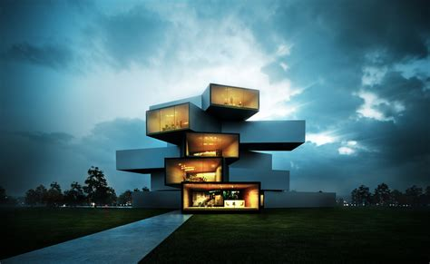 the in modern 3d architecture visualization project 3d renders arch viz vray pos productionarchitectural