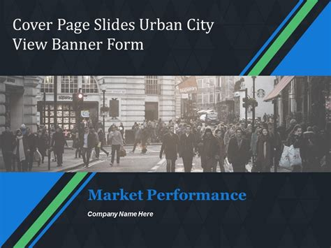 cover page  urban city view banner form template