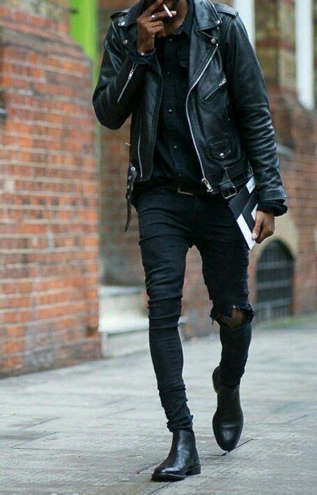 black outfit ideas  men blackonblack allblack