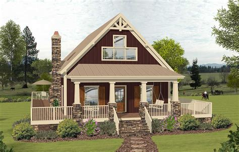 2story Cottage With 2story Great Room 20135ga