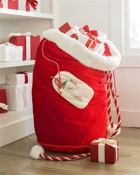 red santa sack for babies pictures santa bag balsam hill