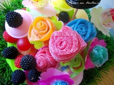 shoing fait maison bouquet de fleurs en bonbons tuto diy prunille fait