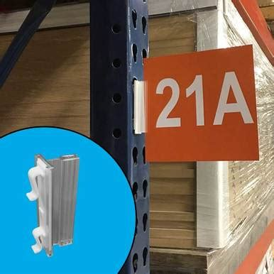 warehouse aisle sign holders sign gripper snaps