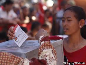 exit polls show incumbent   indonesian presidential