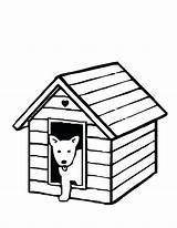 Dog Coloring Kennel Printable Drawing Pages Getcolorings Clipartmag sketch template