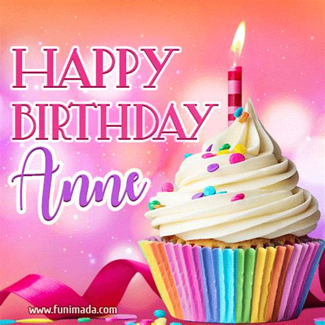 happy birthday anne lovely animated gif