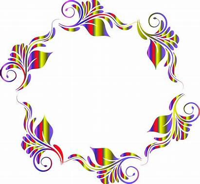 Circle Pattern Flower Clipart Flowers Colorful Drawing