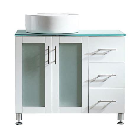 tuscany home depot vinnova tuscany 36 in w x 22 in d x 30 in h vanity in white with glass vanity top in aqua