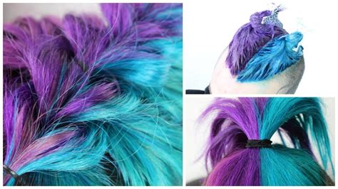 Half Blue Half Purple Hair Diy Youtube