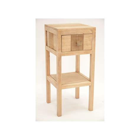 table de chevet haute h 233 v 233 a massif 1 tiroir 55cm gala pier import