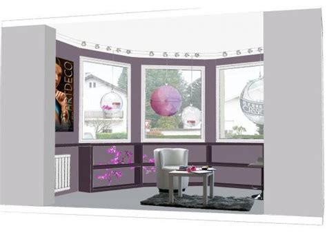 idee bureau deco réalisation de la vitrine d 39 un institut de beauté