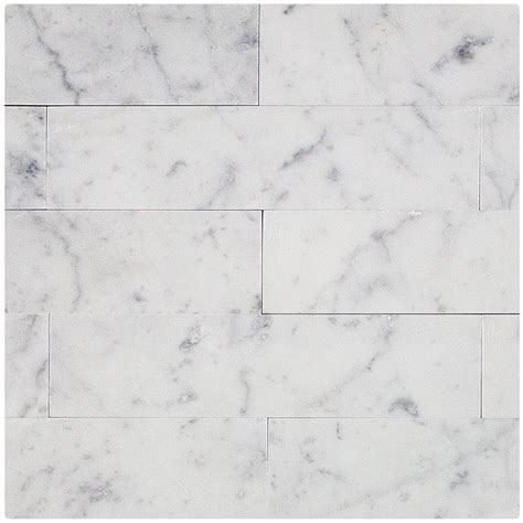 Carrara Marmor Fliesen by Brushed Carrara 2x8 Marble Tile Tilebar
