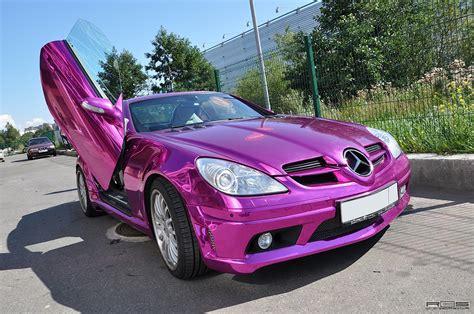 purple chrome mercedes slk autoevolution