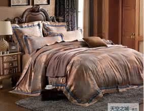 free shipping 4pcs noble jacquard bedding set export quality duvet cover set bedclothes bed set
