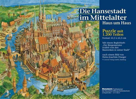 puzzle die hansestadt im mittelalter puzzle spiel