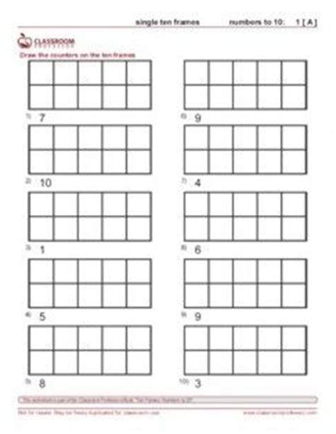 6 best images of printable ten frame worksheets blank