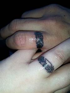 his and hers wedding ring eagle feather tattoos hubby and With his and hers wedding ring tattoos