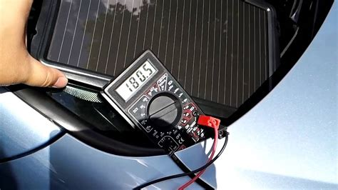 aa solar panel car battery charger testing youtube
