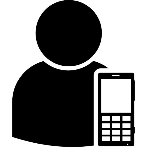 smartphone icon vector png user with smartphone free icons