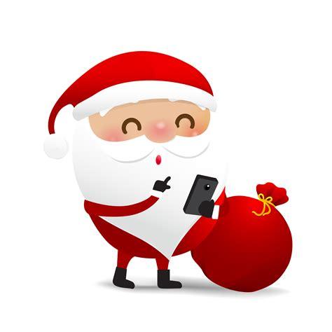 happy christmas character santa claus cartoon