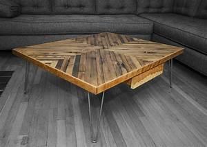 Wohnzimmertisch aus Holz selber bauen - tolle DIY Ideen