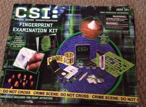 csi fingerprint examination kit  kids included