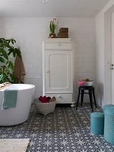 Carreaux De Ciment Salle De Bain : inspirations pour un sol en carreaux de ciment joli place ~ Melissatoandfro.com Idées de Décoration