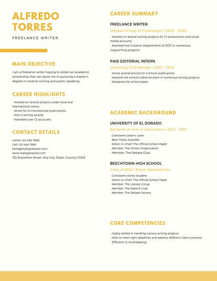Scholarship Resume Templates by Customize 1 079 Resume Templates Canva