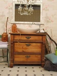 Waschtischunterschrank Selber Bauen : waschtischunterschrank holz antik ~ Lizthompson.info Haus und Dekorationen