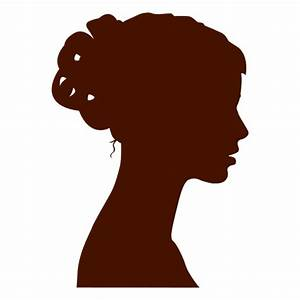 Woman profile silhouette bow - Transparent PNG & SVG vector