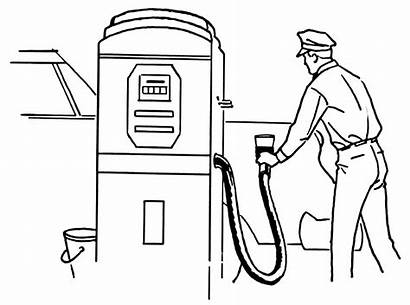 Gas Station Coloring Printable Colorear Colorare Benzina