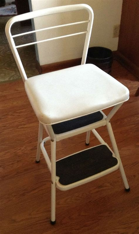 Cosco Step Stool Chair Vintage by Vintage Cosco Lift Up Seat Step Stool Chair