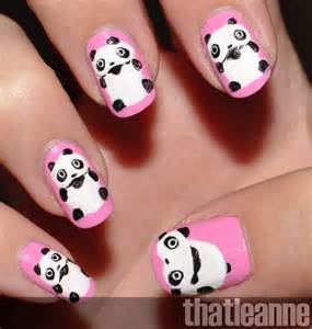 Panda if not here is some nail art d