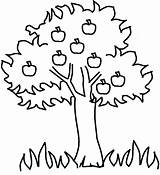 Coloring Apple Tree Pages Printable sketch template