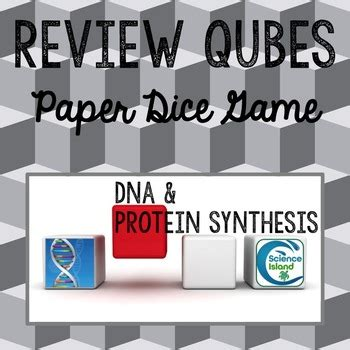 Dna And Protein Synthesis Review Qubes By Science Island Tpt