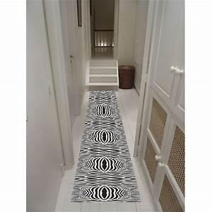 runner 8 tapis de couloir 65100 cm achat vente tapis With tapis de couloir gris