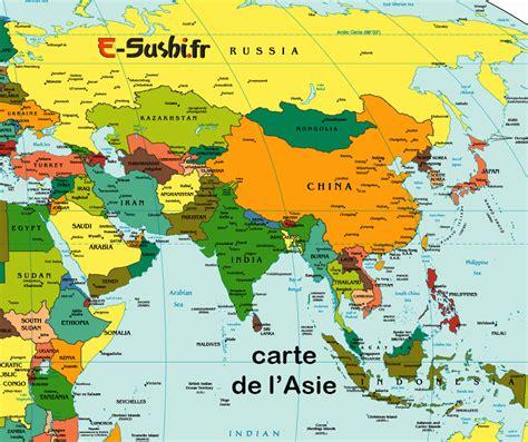 Thailande Carte Geographique Monde by Carte Asie Voyages Cartes