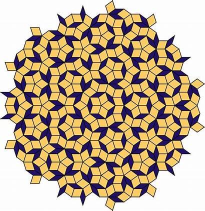 Penrose Tiles Tiling Aperiodic Tile Tessellation Clipart