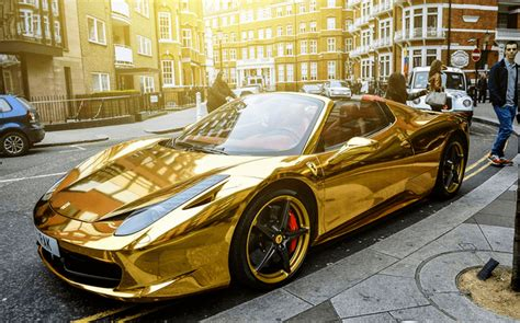 golden ferrari wallpaper chrome gold ferrari 458 spider one of the most unique