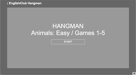 play hangman englishclub