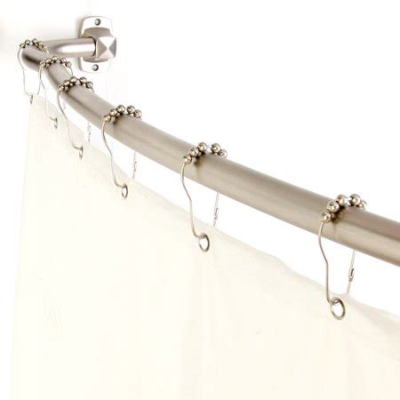 curved curtain rod walmart home fashions 3in1 adjustable curved shower rod